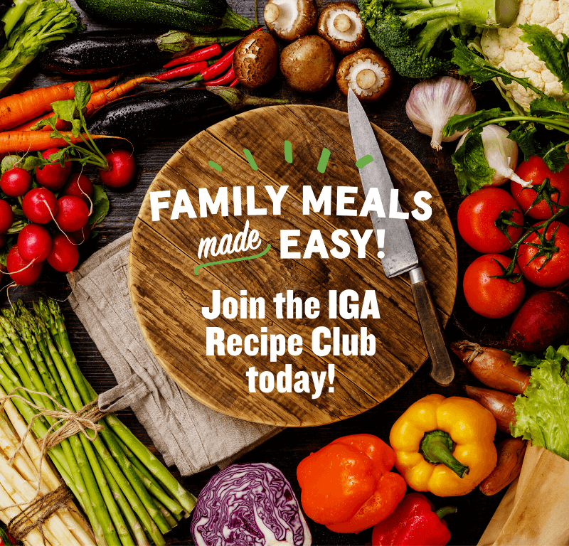 Join the IGA Recipe Club!